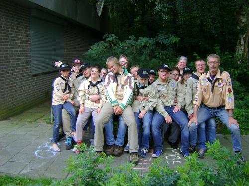 Groepsfoto van de Scout Angels van Scouting Boxtel