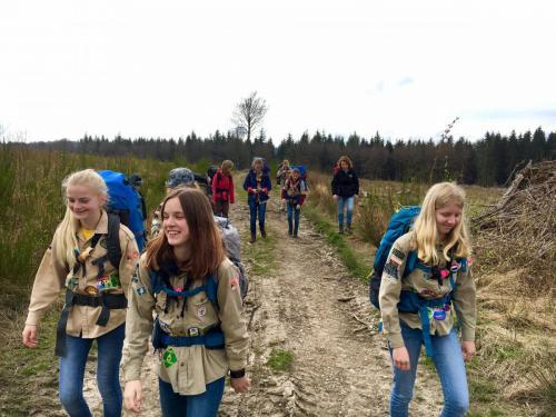 Hiken met de Scouts