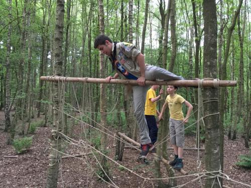 Survivalbaan met de Scouts